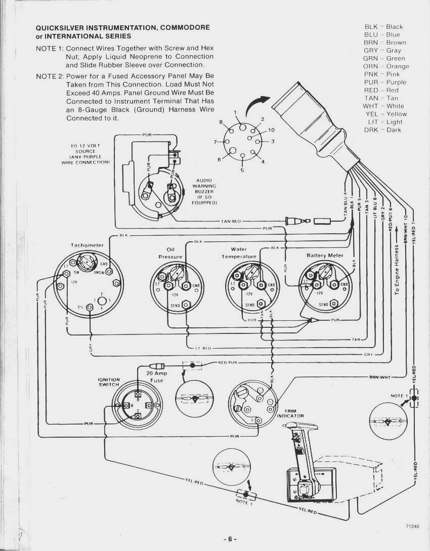 I have a 1979 Glastron ssv-177 xl. It has a 140 mercruiser ...  Wellcraft Single Trim Solenoid Wiring Diagram on