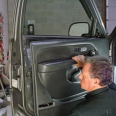 Removing Door Panel On Late Model Chevy Truck.
