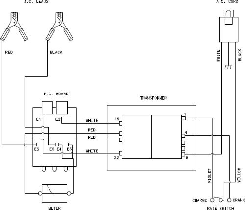 marquette battery charger wiring diagram