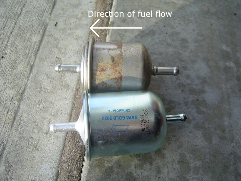 i have a 1998 infiniti qx4 4x4 and when i put the vehicle ... small engine fuel filters flow of direction #9