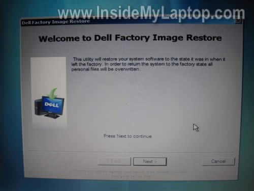 How to restore wim image file