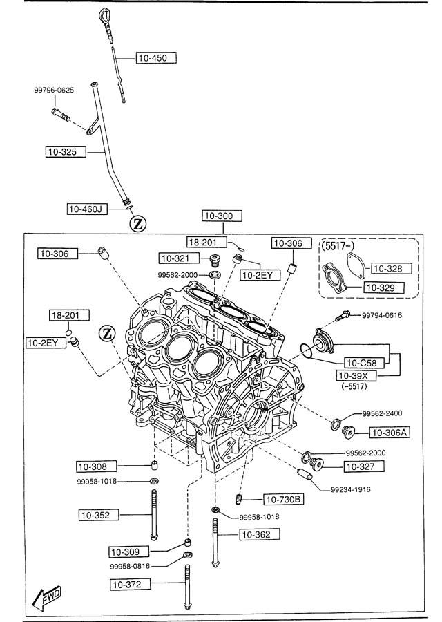 1995 626 v6 engine