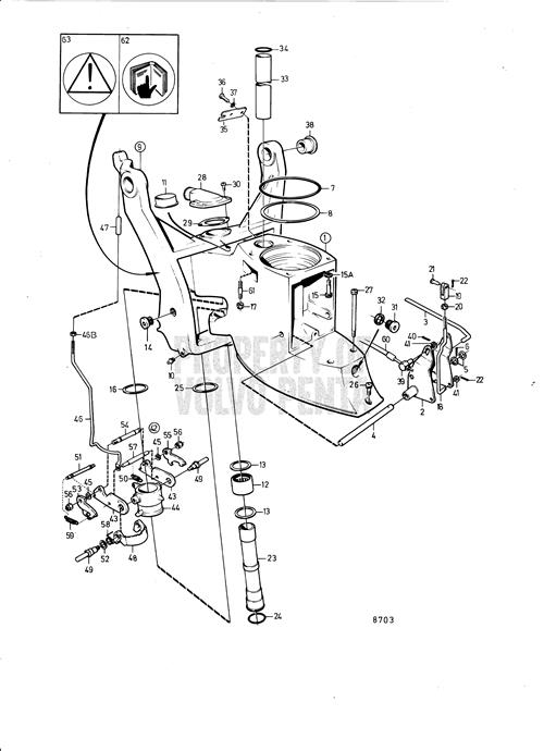 Volvo Penta Exploded View Schematic Seawater Pump And Hoses