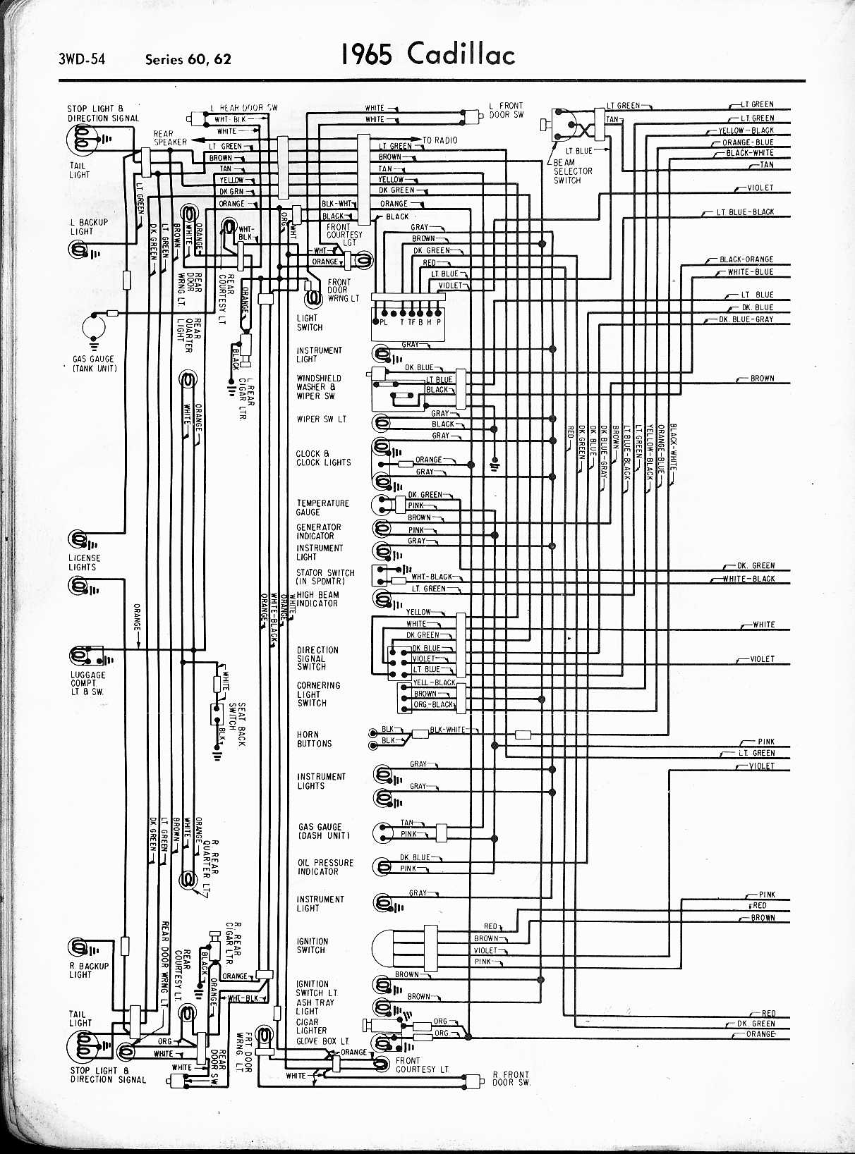 66 cadillac wiring diagram schematic wiring diagram schematicsStandard Body And Power Wiring Circuit Diagram Of 1966 Cadillac 68169 Model #7