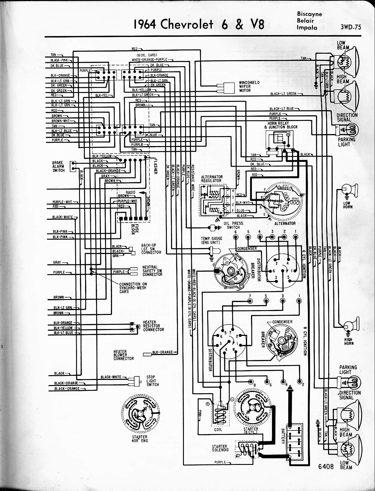 i have 1964 chevy impala can you tell me where the three wires go rh  justanswer com 57 Chevy Ignition Wiring Diagram S10 Engine Diagrams Online