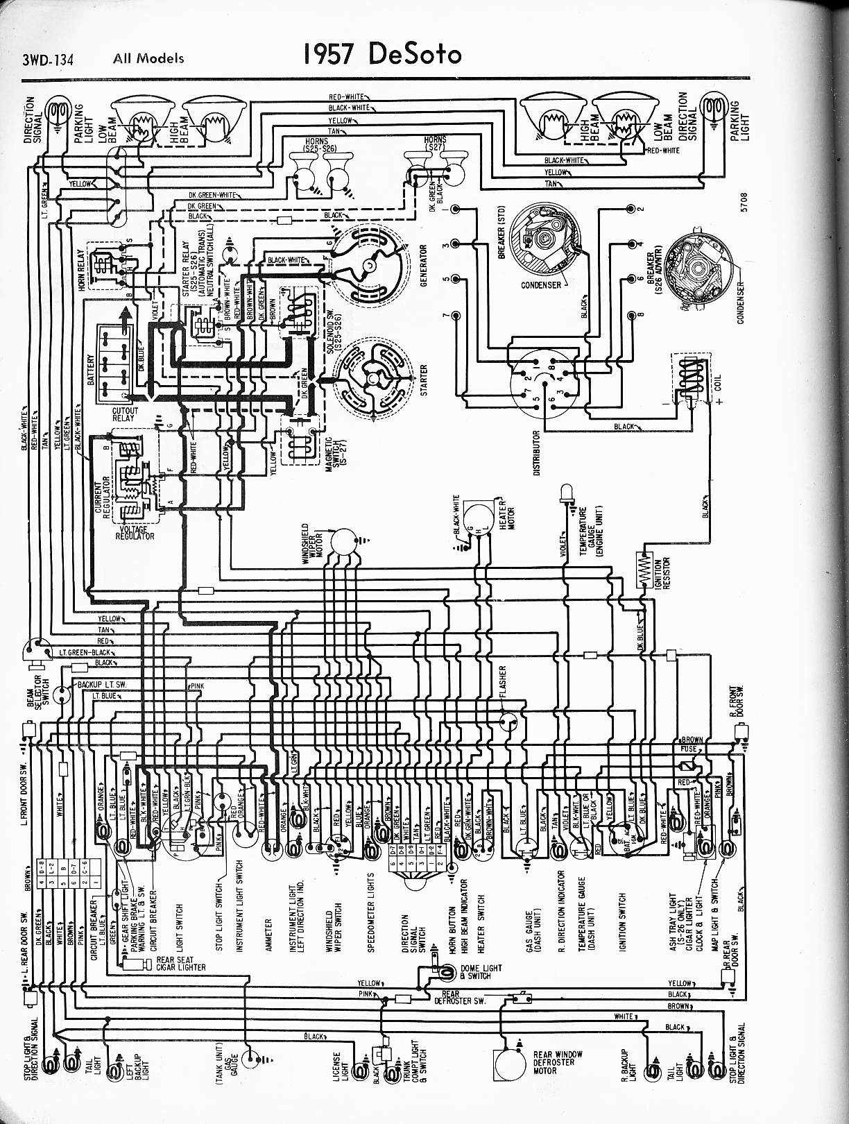 Wiring Diagram 1953 Plymouth Vehicle Diagrams 1948 Chrysler Windsor 1951 Desoto Battery Good Continuity To Rh Justanswer