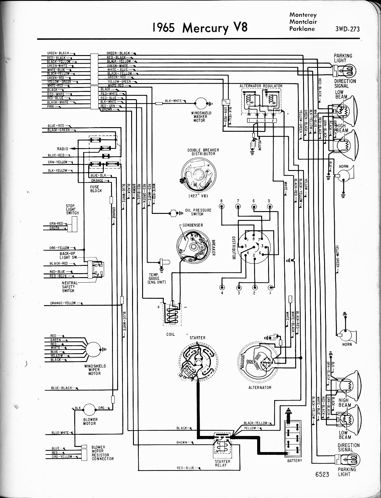 I Have A 68 Mercury Cougar And Need To Find A Wire Diagram For The Coil Water Temp And Charging