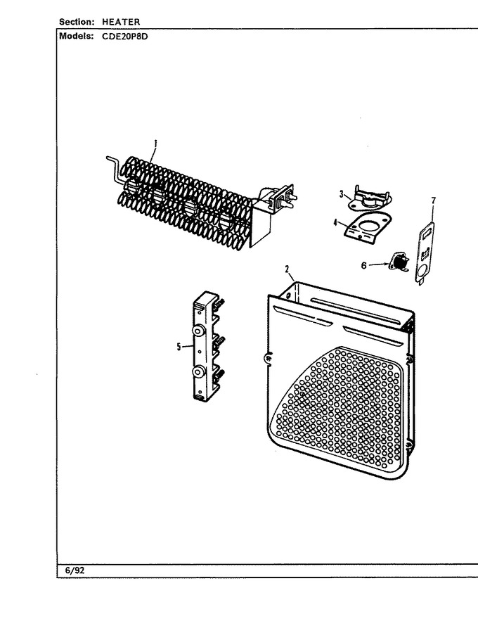 how do i find the thermal fuse in my crosley dryer  model