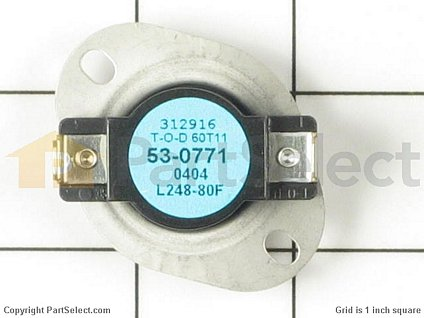 PS2047800: High Limit Thermostat (Limit: 258-80)
