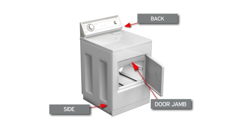 Find Your Dryer Model Number