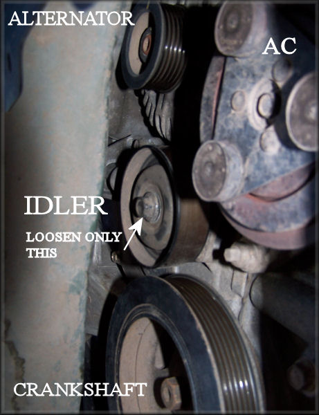 98 maxima idler pulley
