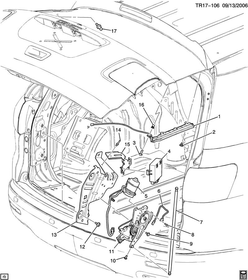 Diagram Also 2008 Buick Enclave Rear Liftgate Motor Diagram