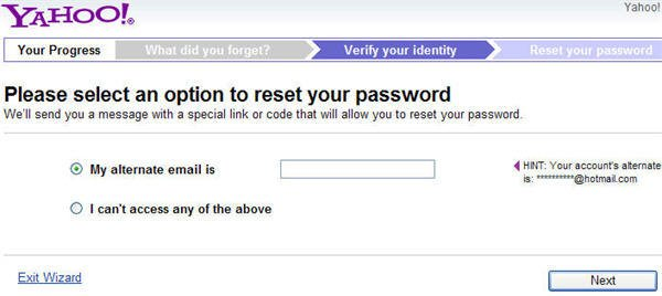 how to reset yahoo password without security questions and alternate email