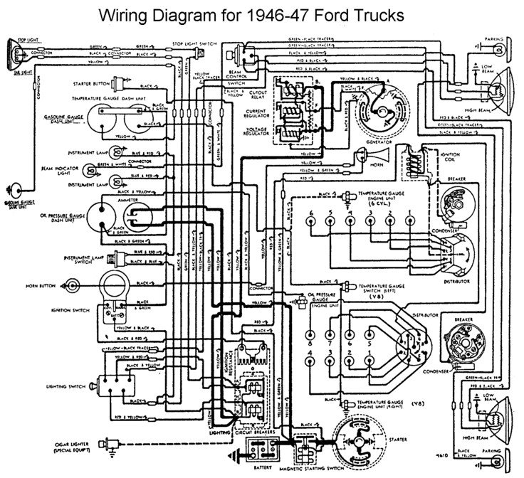 i m converting a 6v positive ground to 12v on a 1946 ford 1941 ford headlight wiring diagram