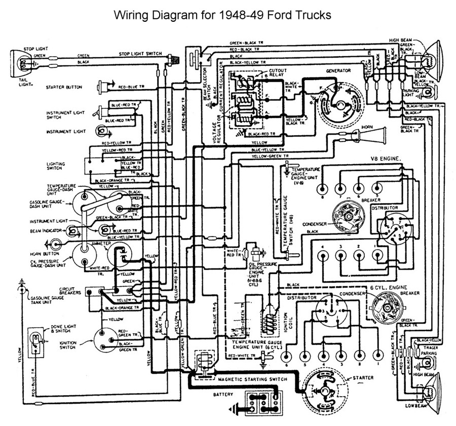 Flathead_Electrical_wiring1948 49truck 1948 1950 ford truck herter wiring diagram Ford Schematics at gsmx.co