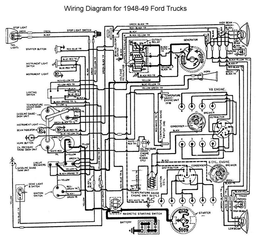 Flathead_Electrical_wiring1948 49truck 1948 1950 ford truck herter wiring diagram Ford Schematics at bayanpartner.co