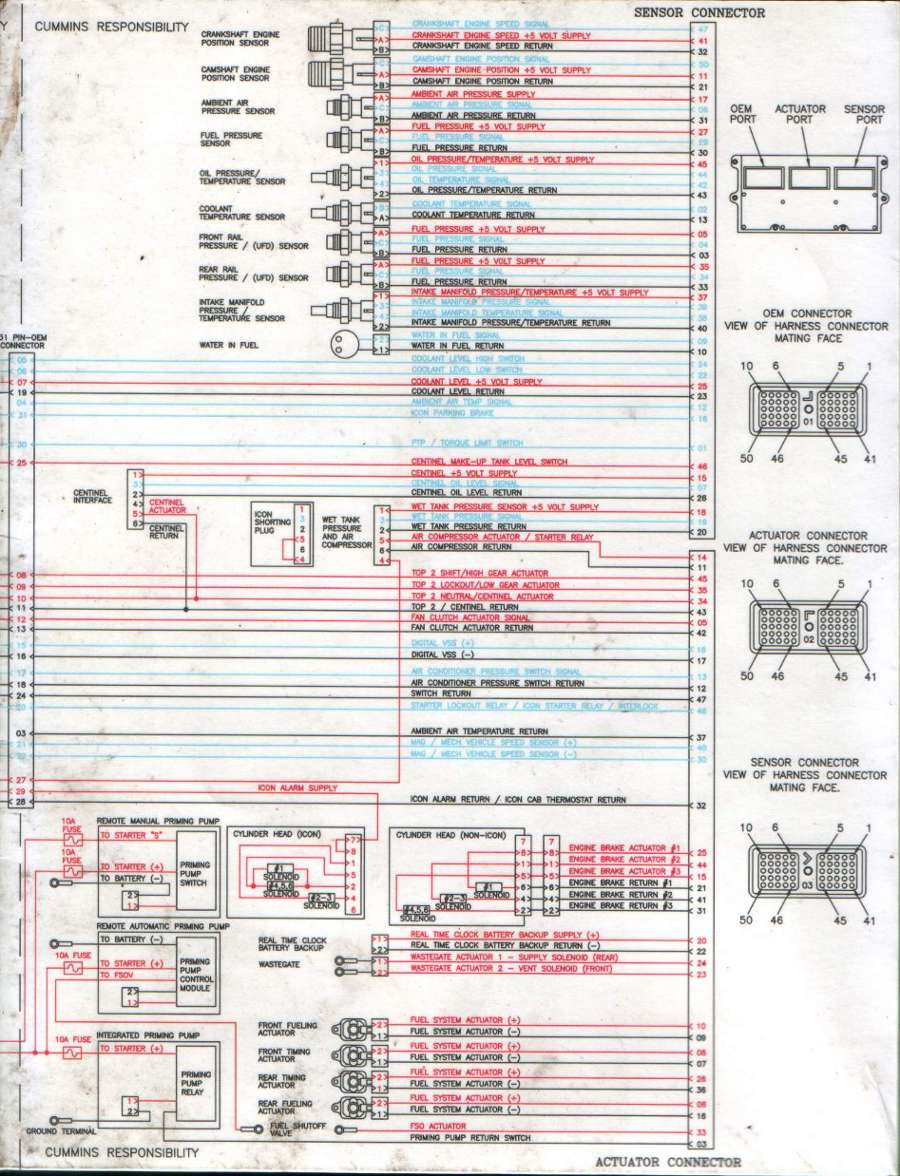 2009 kenworth t800 with Cummins isx engine  Could you supply the ECM pinout    wiring       diagram
