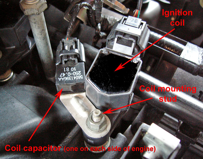 Coil Cap on 2002 Nissan Sentra Engine Diagram