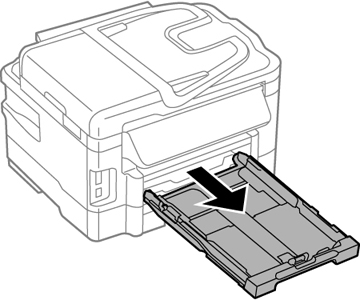 We have an Epson WF - 3640 it tells me either a paper jam or