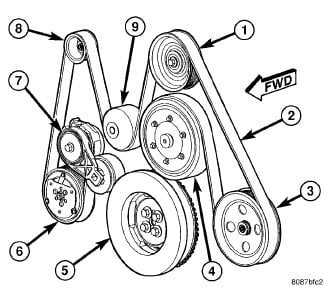 I need a belt diagram for a dodge ram 6 7 L 2007 with a c