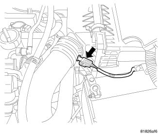where is the coolant temperature sensor located on a dodge caliber 2009 Dodge Avenger Engine Diagram