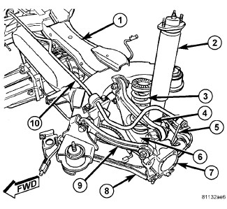 Chrysler Sebring Suspension Diagram