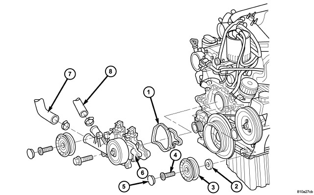 how do you remove an idler pulley from a 2 7 diesal in a