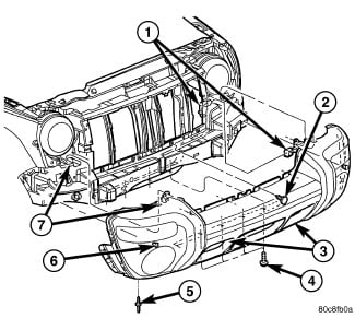 2006 jeep liberty diagrams on how the front end body parts bumper Jeep Liberty Parts full size image