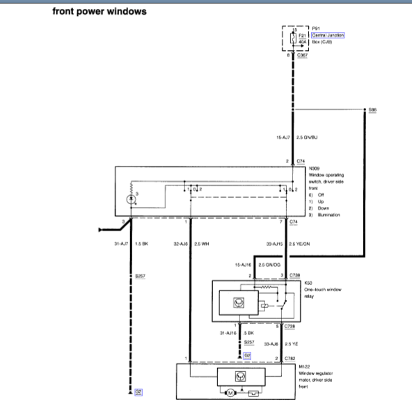 2001 Mercury Cougar Power Window Wiring Diagram I Need Drivers Side Rhjustanswer: Cougar Power Window Wiring Diagram At Cicentre.net