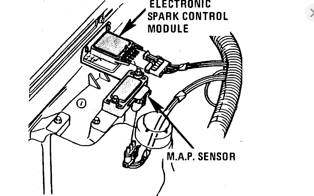 Have A 1983 Elcamino Where Is The Esc Module Located No