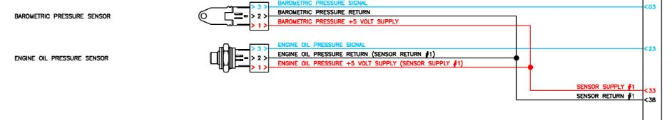 05 int 9400 I with isx has no oil pressure on dash all 7