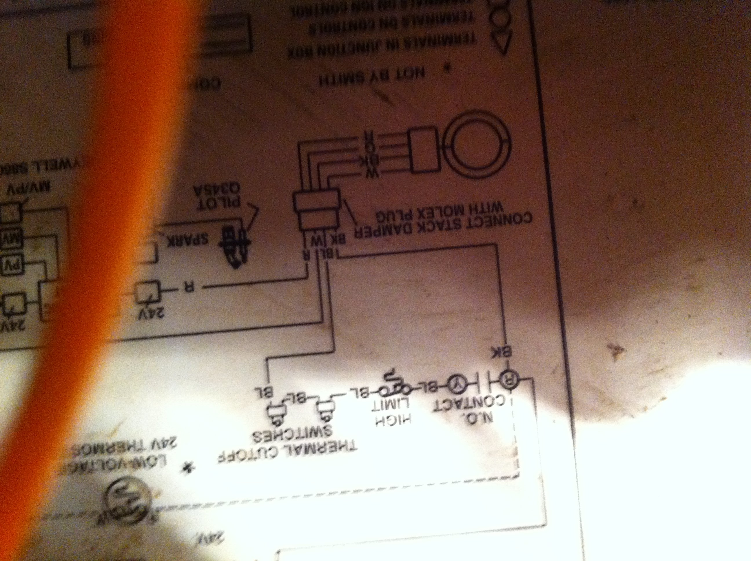 I Need Help Jumping Out The Damper On Hb 100 Boiler No Sure Why Im Pennco Wiring Diagram Customer Reply