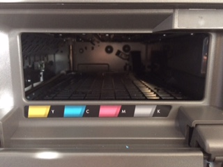The ink cartridges are jammed and they can't be accessed  HP