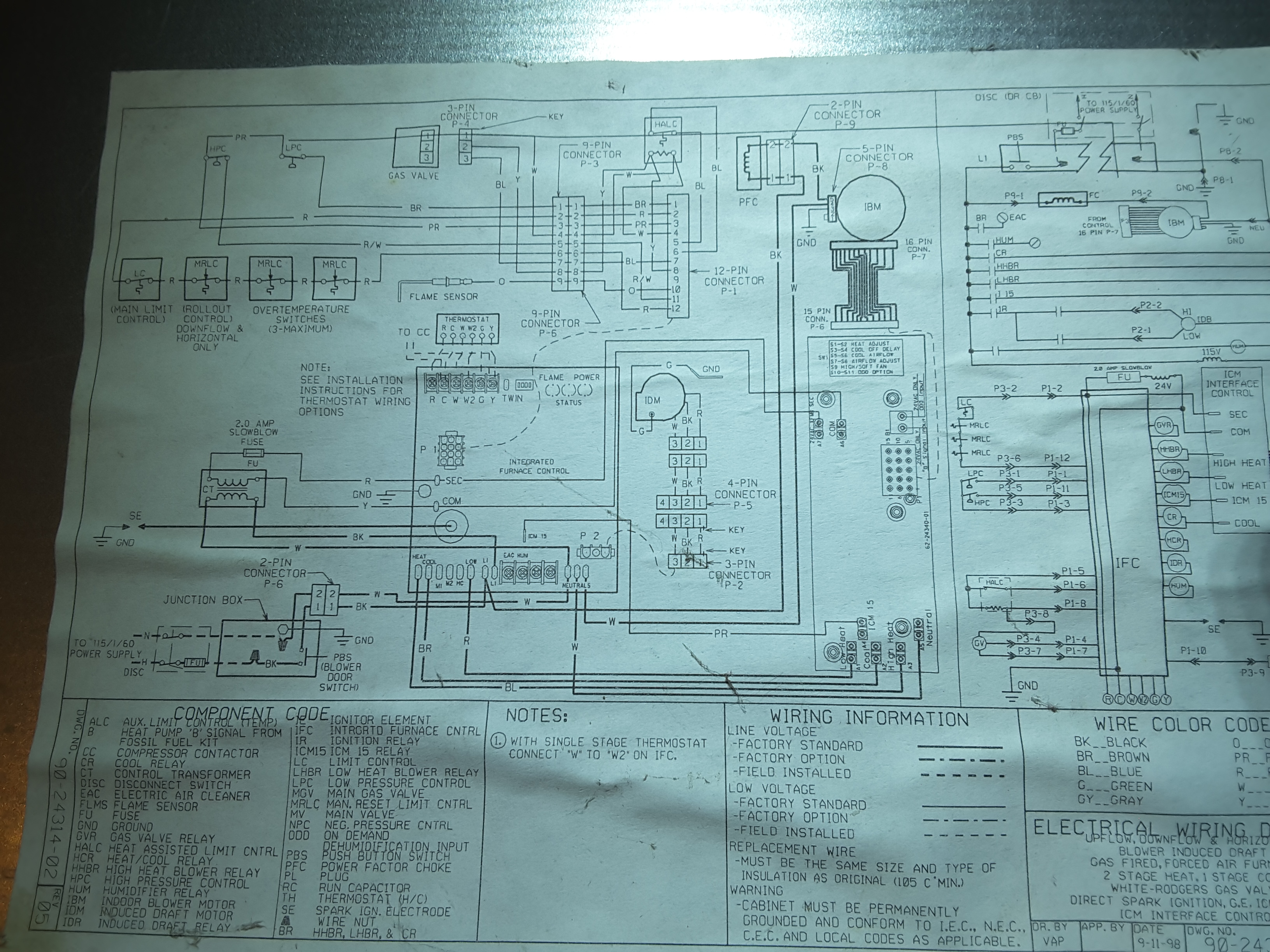 Ruud Silhouette 2 Gas Furnace Manual Wiring Diagram And Schematics