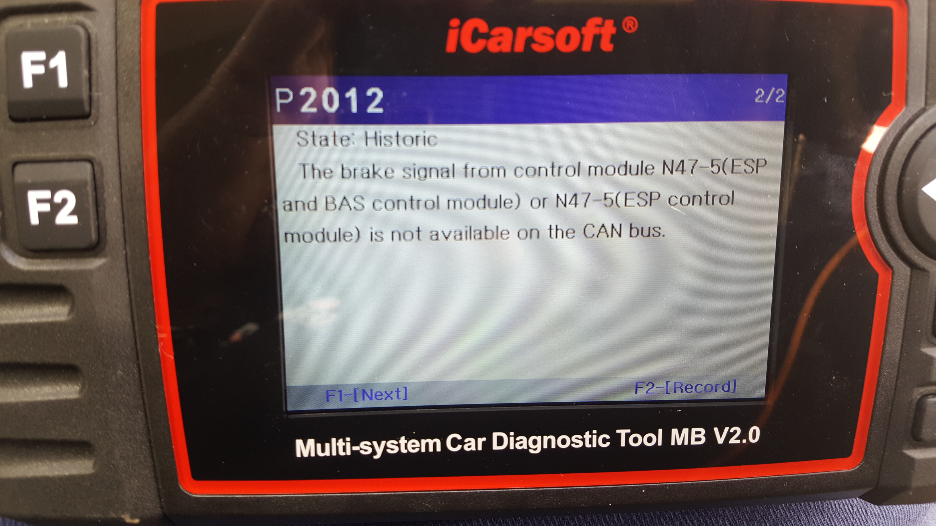 My C200 (W203) has been throwing up ESP Faulty message  Not ABS