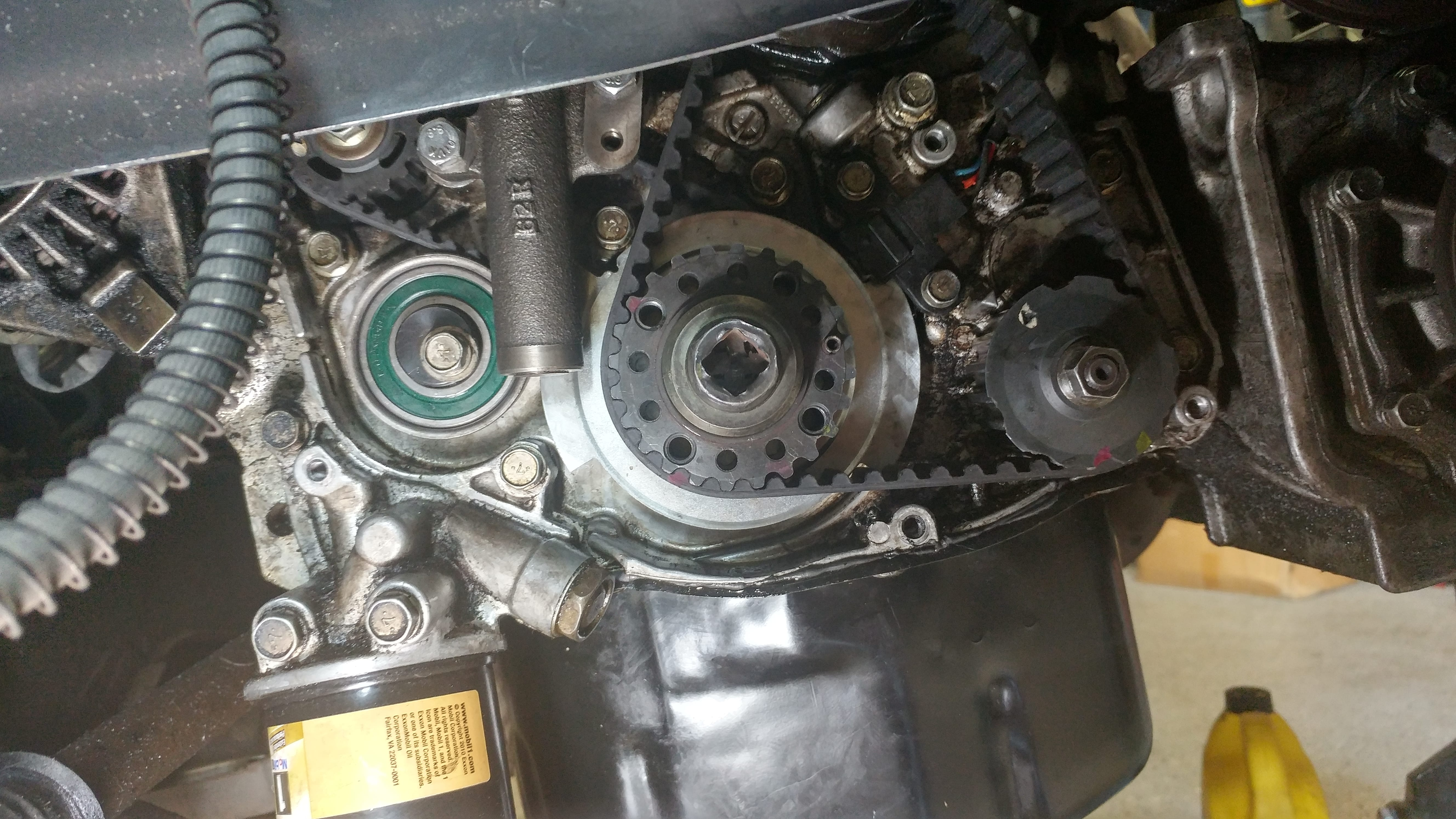 The Head Gasket And Timing Belt On A 2002 Mitsubishi Galant 24l Interference Engine Chart 20160525 160512 Hdr Min
