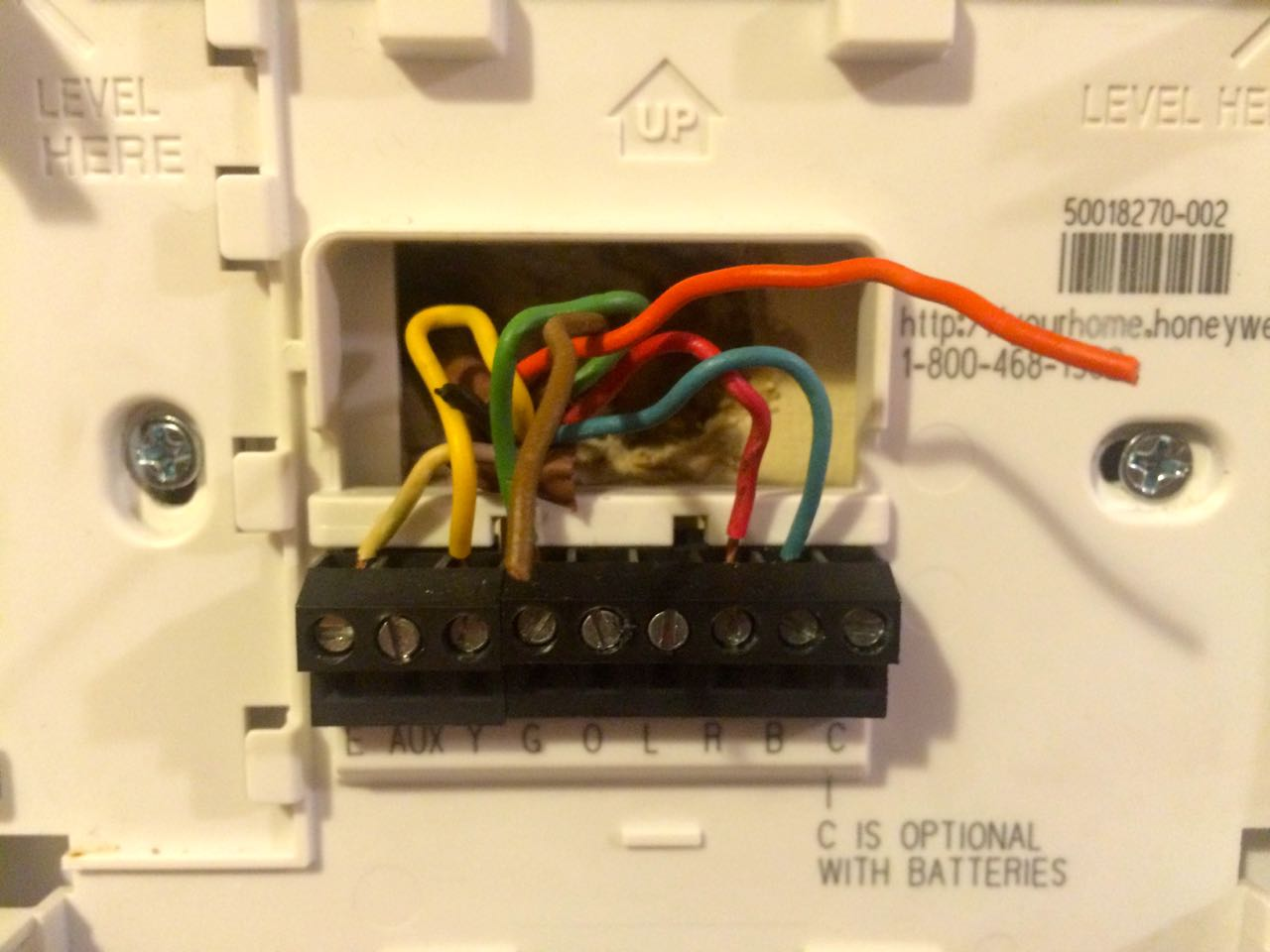 Wiring a RUDD heatpump to a Honeywell thermostat. I have a Honeywell on