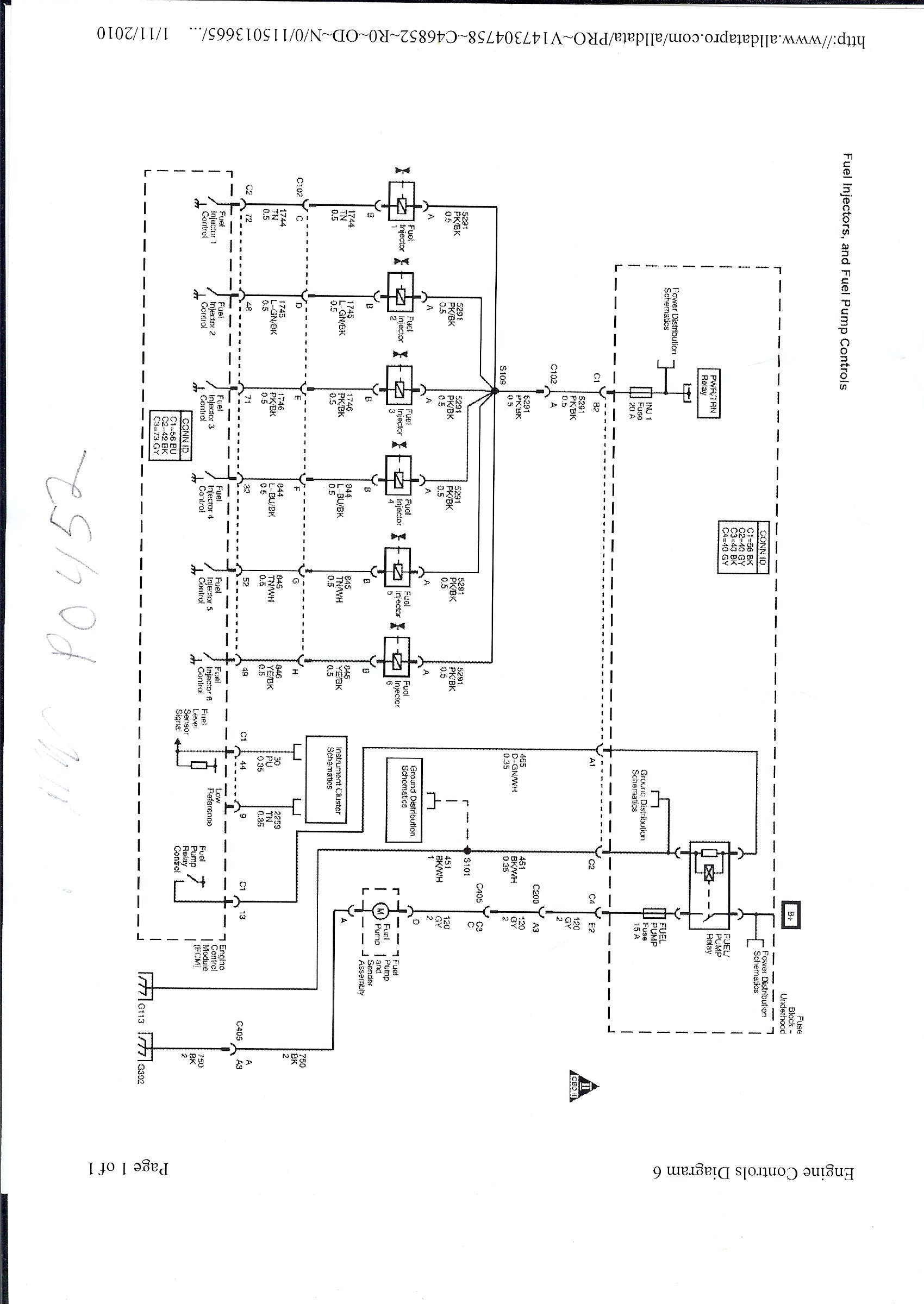 Wiring Diagram on 2007 Chevy Impala Fuel Pump Relay