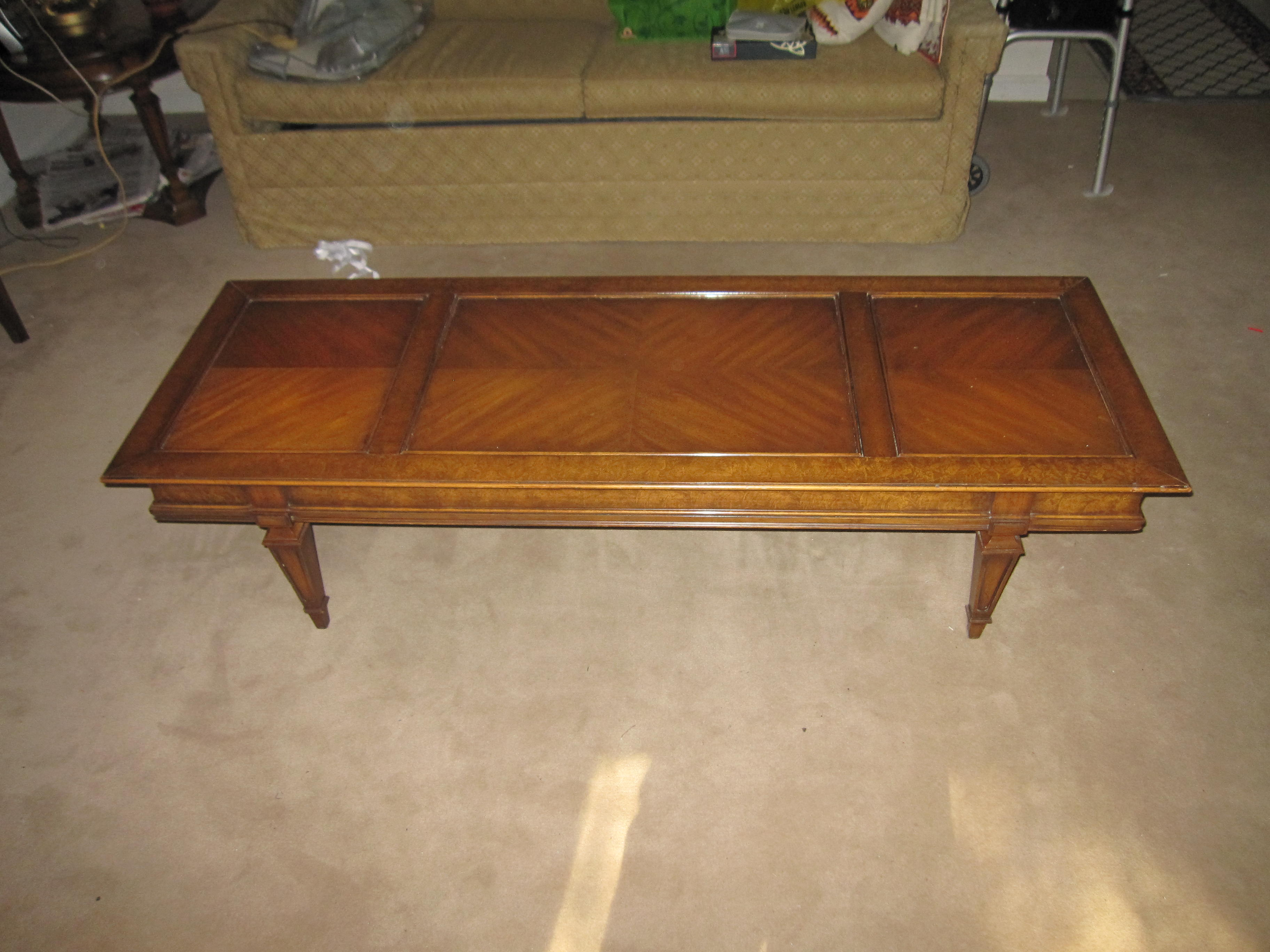 I have inherited 3 pieces of Heirloom Quality Weiman Tables 693