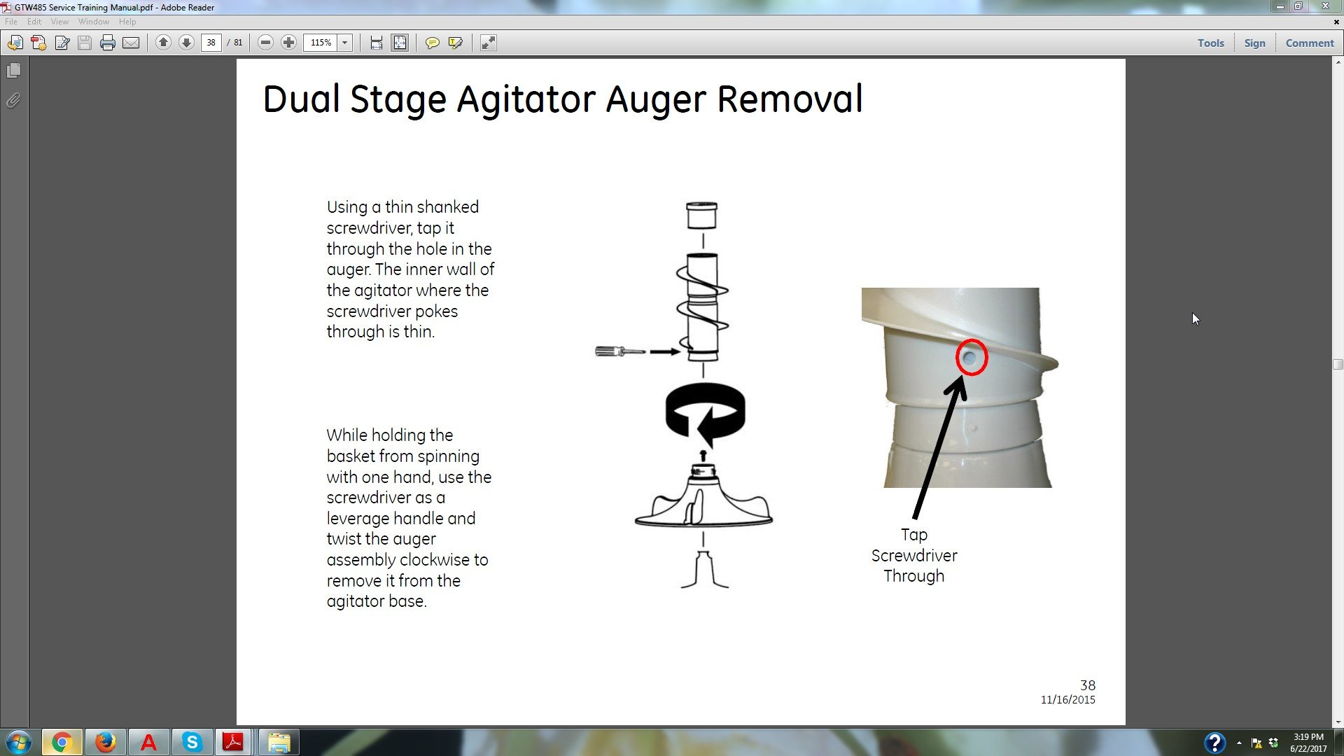 How to remove the upper agitator from a GTW460ASJ4WW washer ... Ge Washing Machine Wiring Diagram Model Whdrr G Ww on