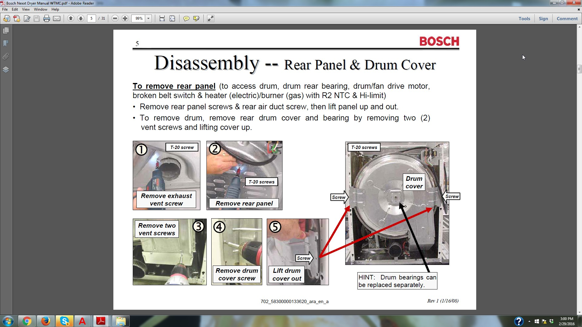 my name is i have a bosch nexxt 500 series dryer model
