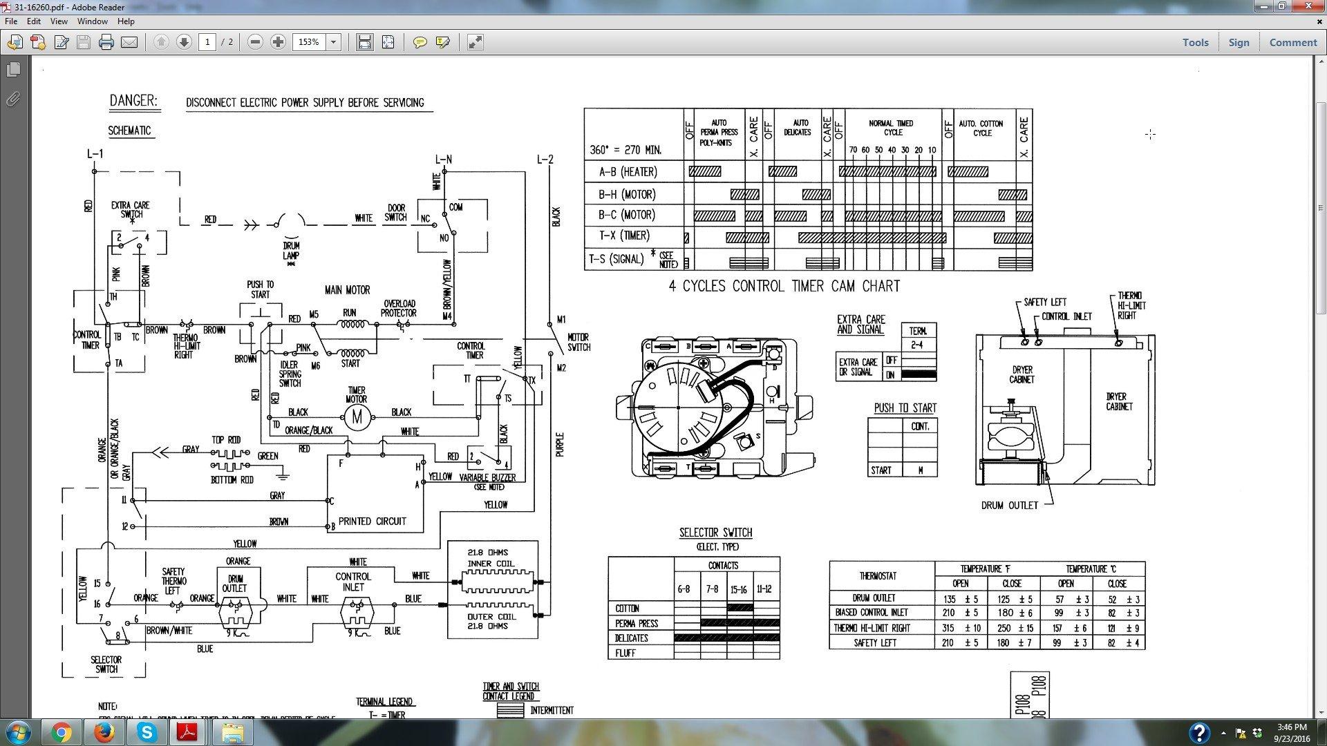 21716 Wiring Diagram Ge Dryer Timer Wiring Resources
