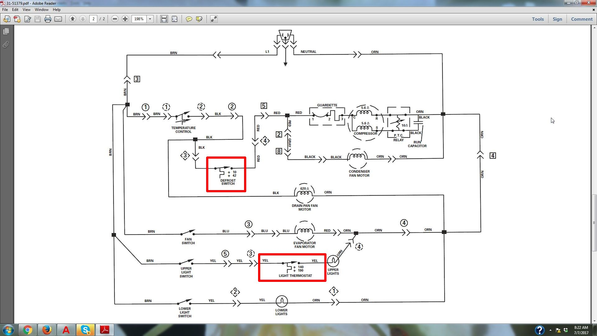 Diagram Fridge Wiring Ge Zir36nmhrh Trusted Schematics Rr7 Only Im Working On A Refrigerator It Has Defrost Relay