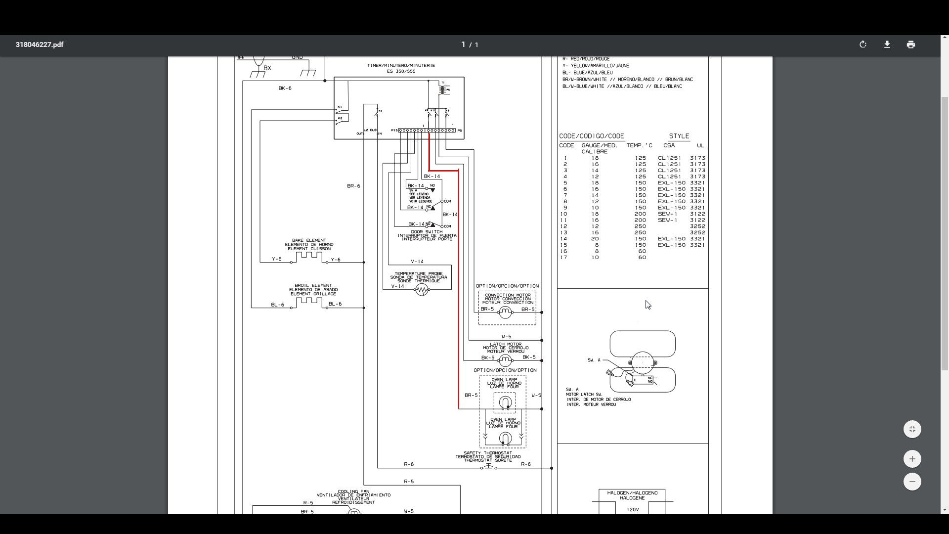 I have a Kenmore wall oven. mod # 790.47789400. the light is ... Kenmore Electric Range Wiring Diagram on