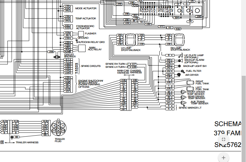 I have 1999 Peterbilt 379. I was going down the road and hit ... Fan Switch Wiring Schematic Peterbilt on