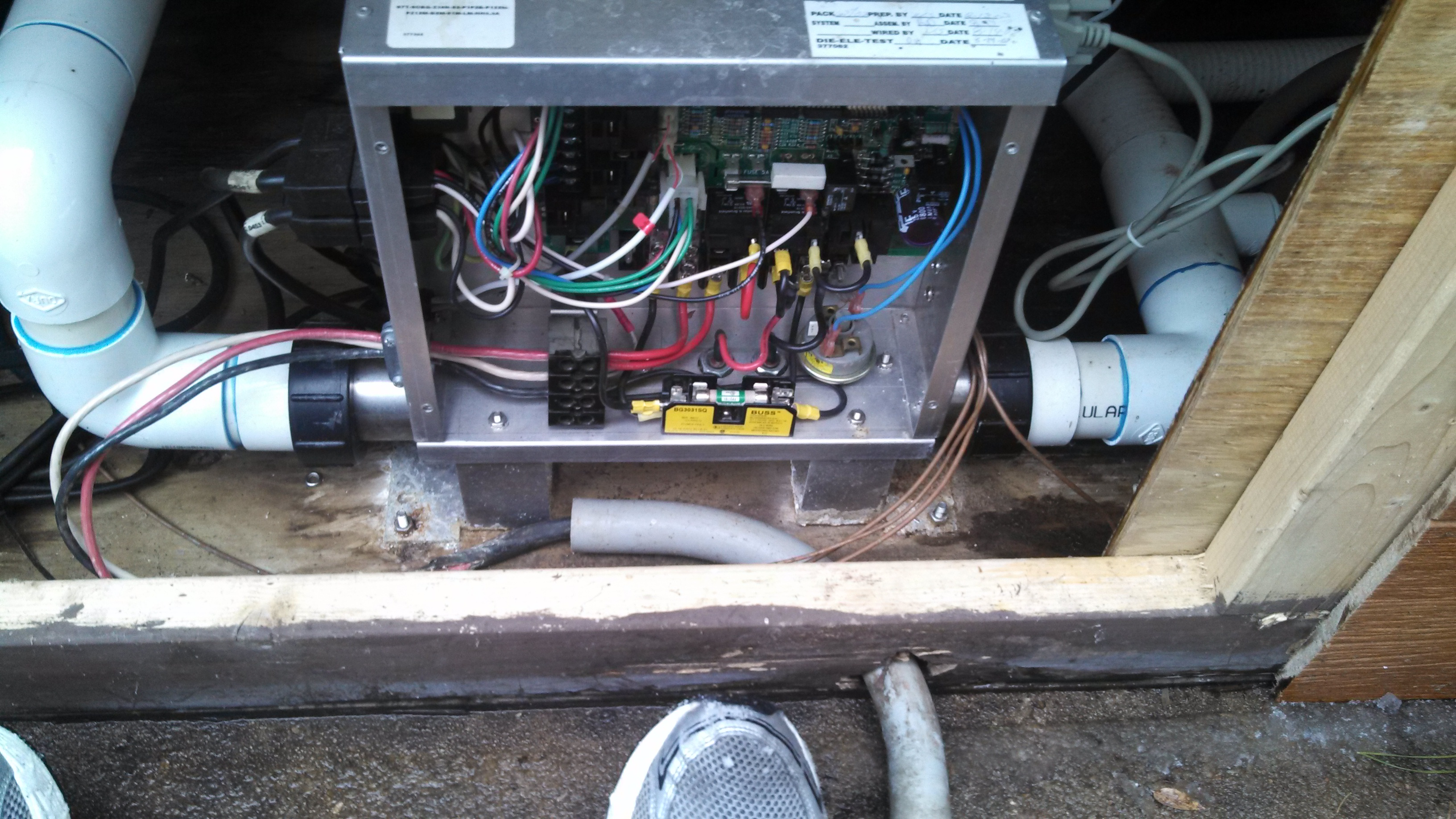 I Have An Older Model Jacuzzi Echo Hot Tub Recently Replaced The Wiring Size Full Image
