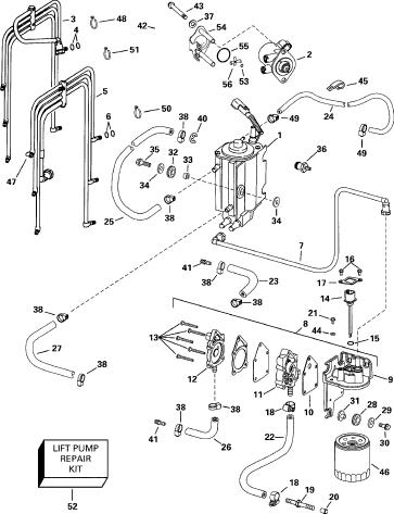 Evinrude Ficht 150 Fuel Pump Diagram - Wiring Diagram Img
