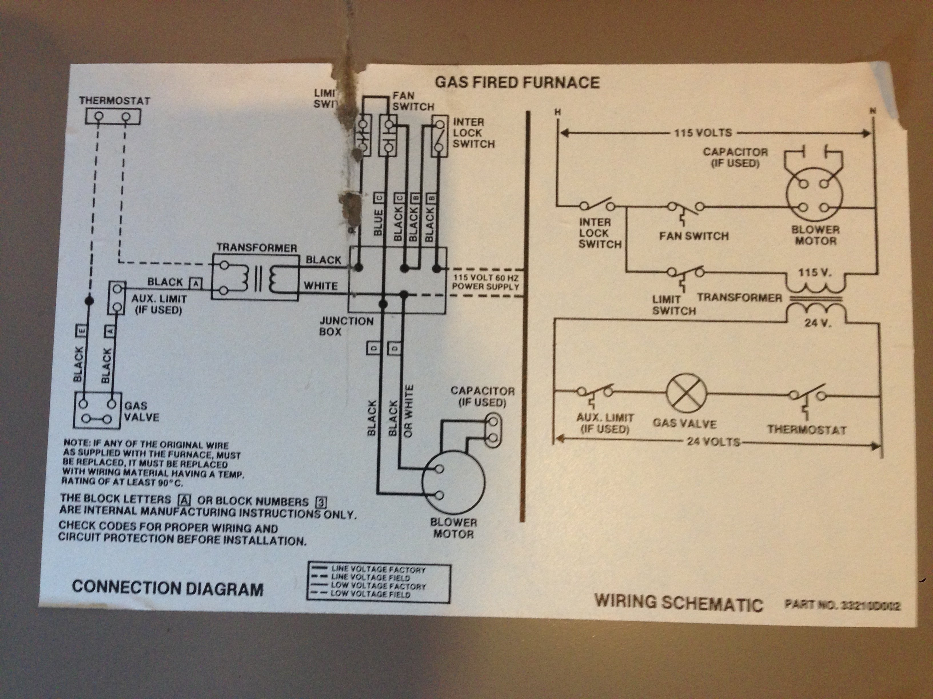 2014-12-16_022645_furnace_wiring_diagram  Gas Furnace Thermostat Wiring Diagram Wires on roll out switch, coleman evcon, typical central ac, for lennox, blower motor, 2 wire thermostat, gms80453anbd, mobile home intertherm, 120 for old, air temp,