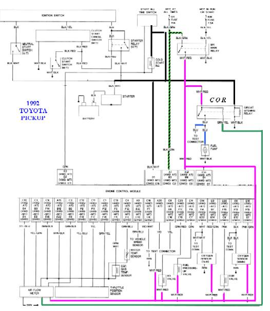 93 toyota truck wiring diagram basic electronics wiring diagram 1991 Toyota Pickup Wiring Diagram 91 toyota truck wiring diagram wiring diagrami just put a factory rebuilt motor in my 1991