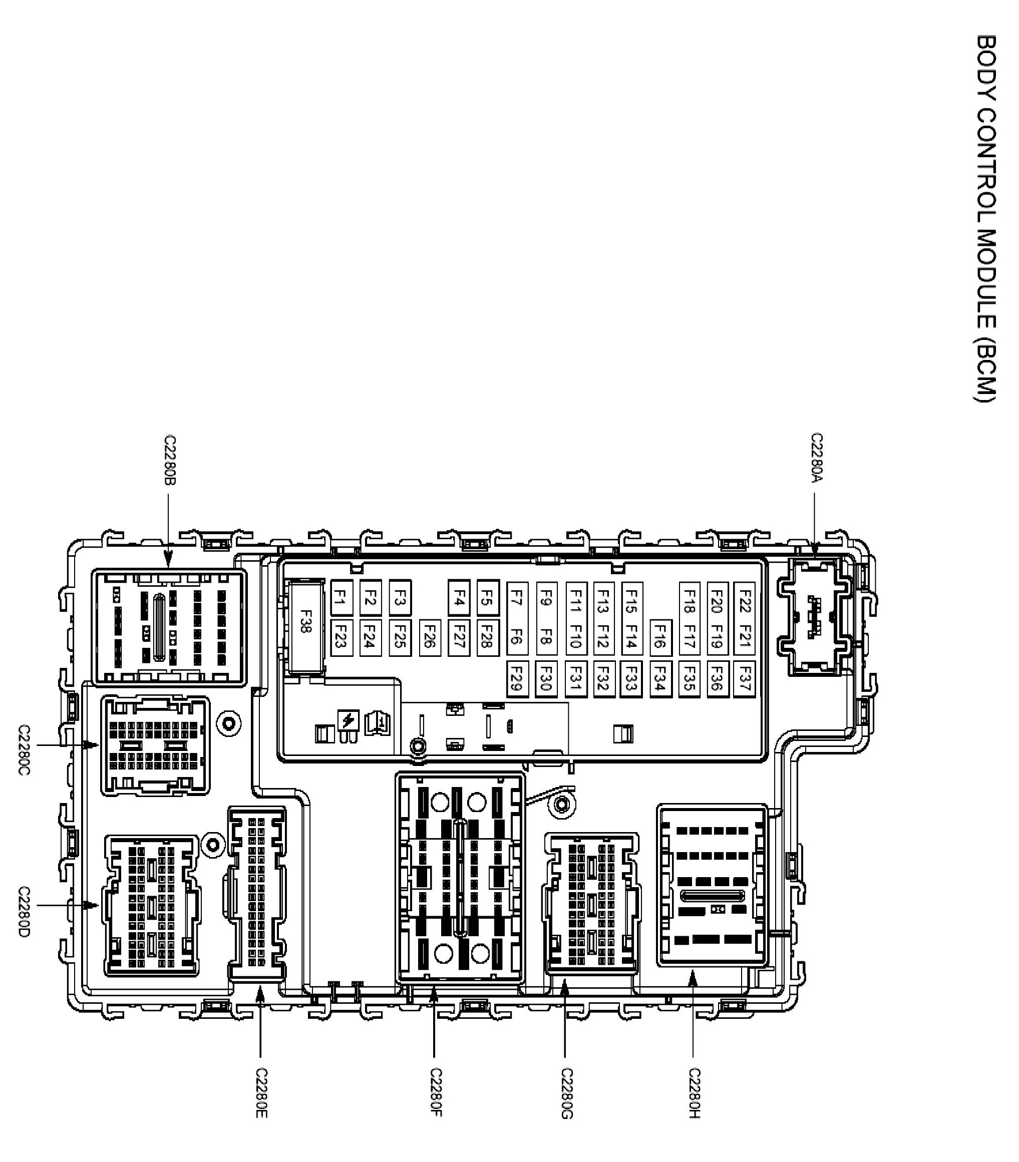 I'm looking for Ford Fusion 2013 BCM/dash fuse box diagram